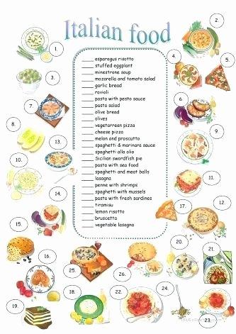 Vegetable Worksheets for Kindergarten Italian Worksheets for Kids