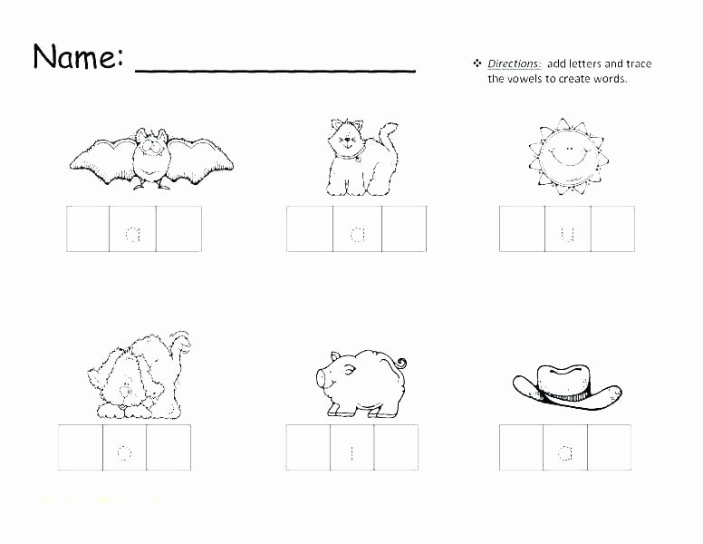Vegetable Worksheets for Kindergarten Word Families Worksheets Kindergarten Family Free Ox Word