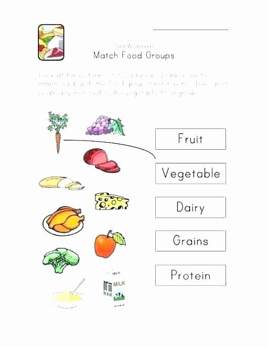Vegetables Worksheets for Kindergarten Food Worksheets for Grade 2