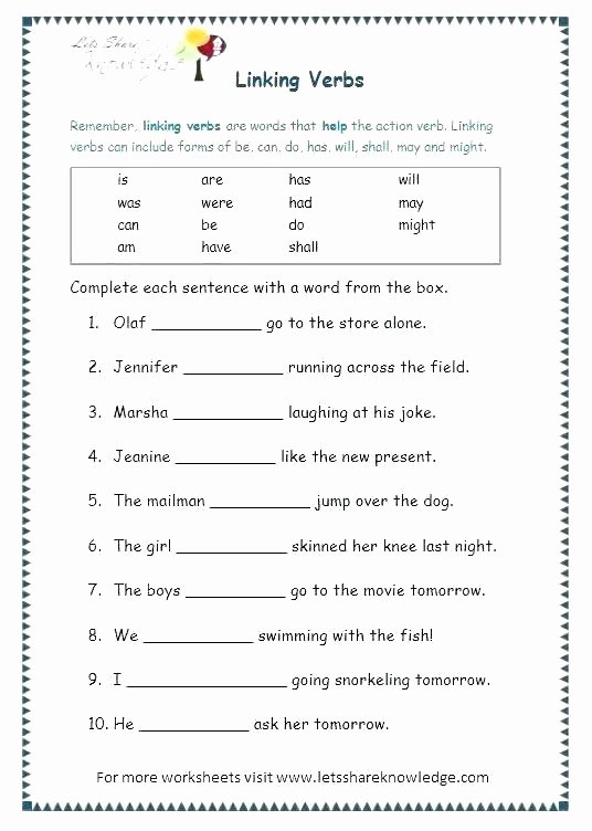 Verb Tense Worksheets 3rd Grade Verb Tenses Exercises Grade 1 Past Tense Worksheets for Free