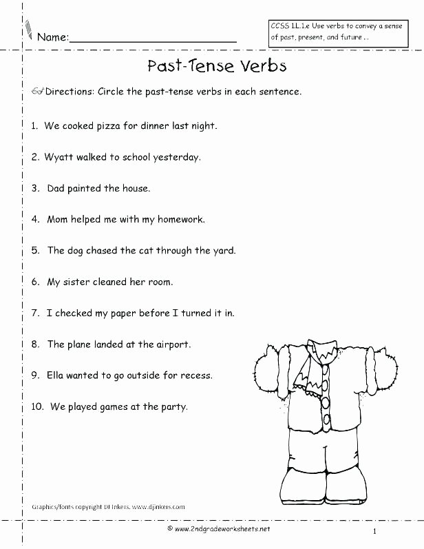 Verb Worksheet 2nd Grade Free 2nd Grade Worksheets