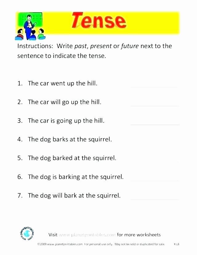 Verbs Past Present Future Worksheet Grammar Tenses Worksheets Full Size Grammar Worksheets