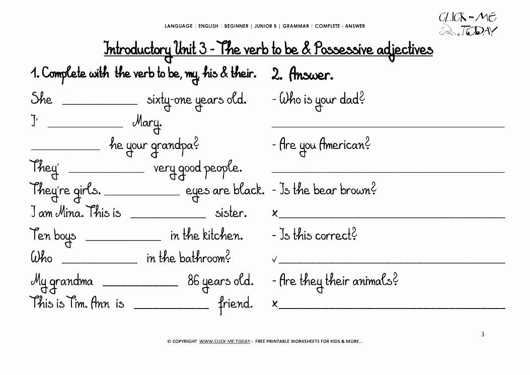 Verbs Worksheet First Grade Pronoun Worksheets First Grade