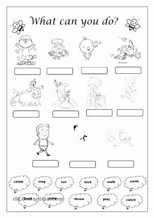 Verbs Worksheets First Grade 1st Grade English Worksheets