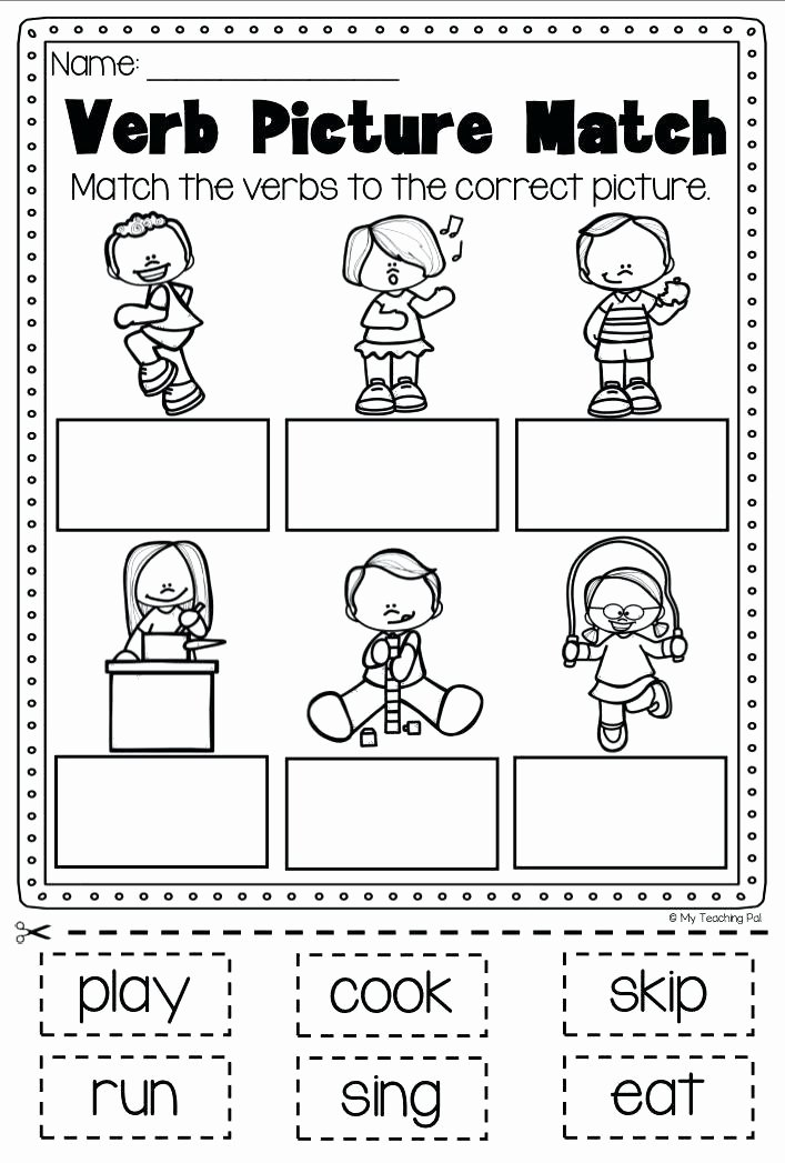 Verbs Worksheets First Grade Fun Verb Worksheets Past Tense Ed Verbs with Archives