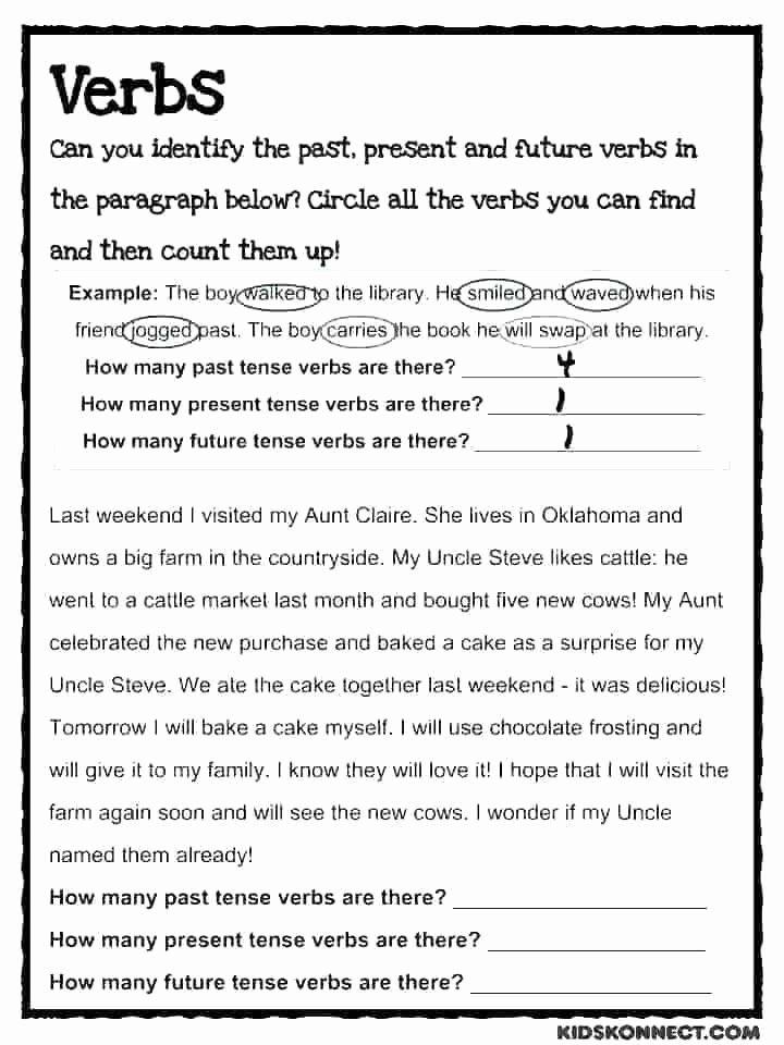 Verbs Worksheets First Grade Regular Past Tense Verbs Worksheets