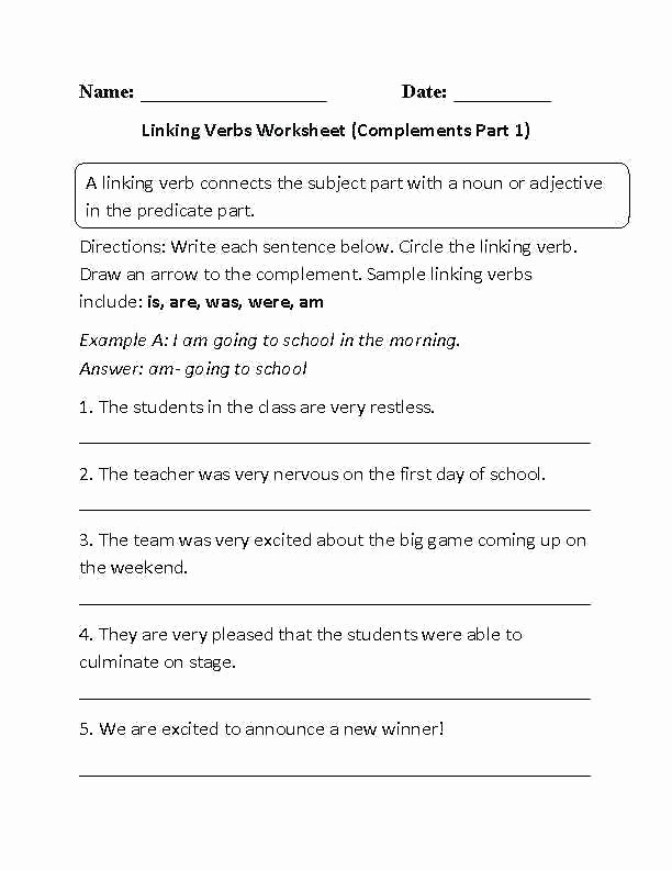 Verbs Worksheets for 1st Grade Irregular Verbs Worksheets 4th Grade – Trungcollection