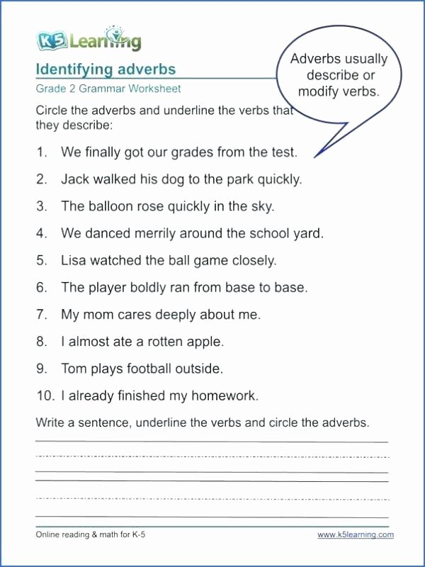 Verbs Worksheets for 1st Grade Verbs Worksheet 3rd Grade 8