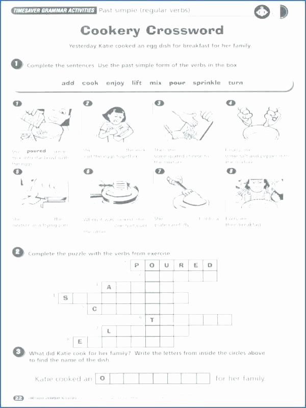 Verbs Worksheets for Middle School Past and Present History Worksheets