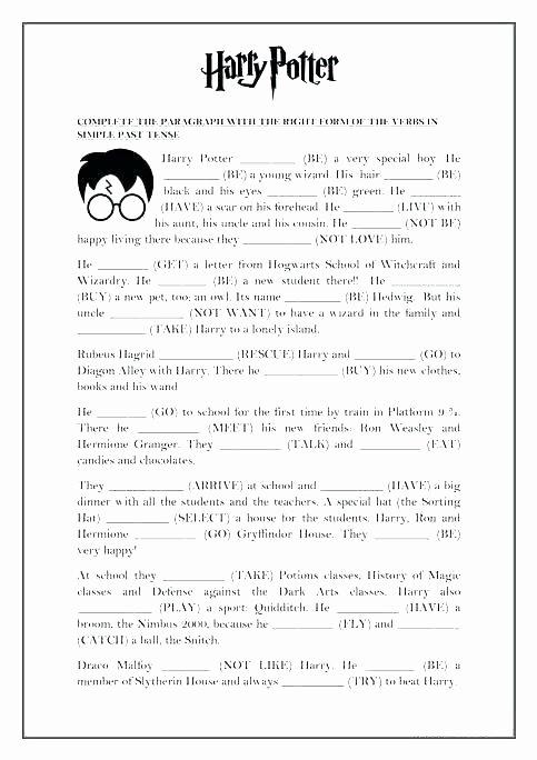 Verbs Worksheets for Middle School Regular Past Tense Verbs Worksheets