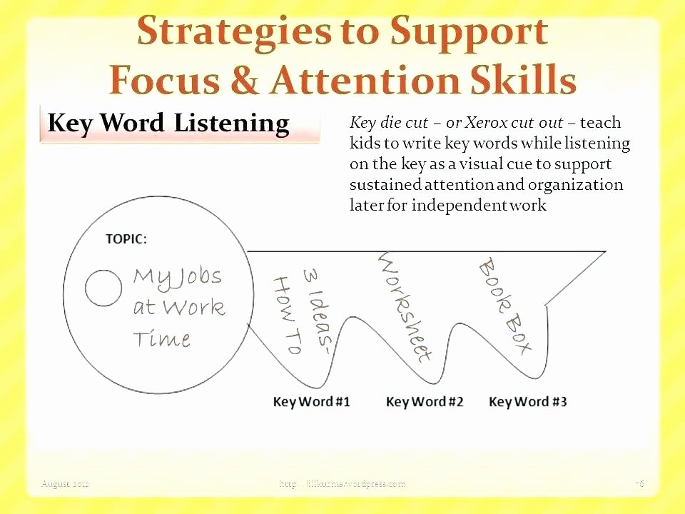 Visual Discrimination Worksheets for Adults attention Worksheets for Adults