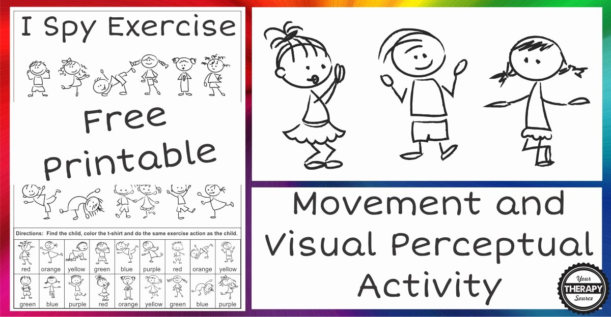 I Spy Exercise from Your Therapy Source