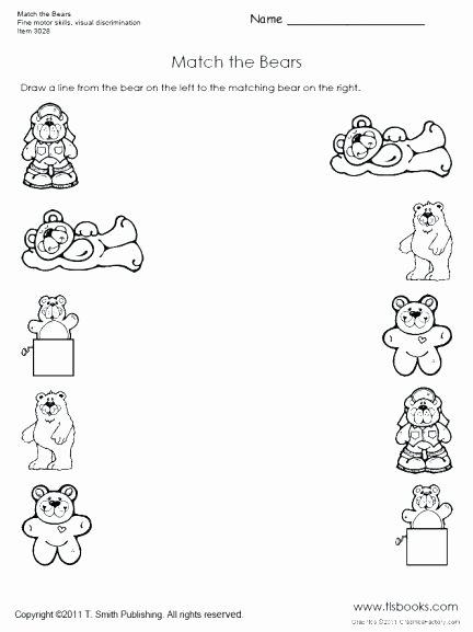 Visual Discrimination Worksheets for Adults Printable Matching Worksheets