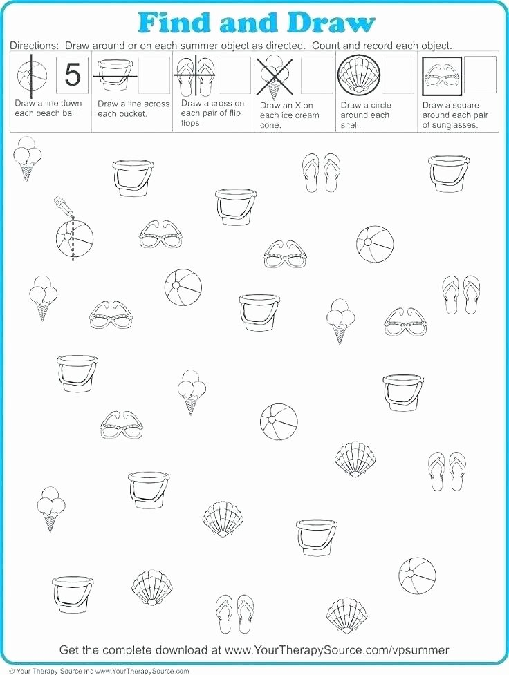 Visual Discrimination Worksheets for Adults Visual Perception Worksheets for Kindergarten Printable Free