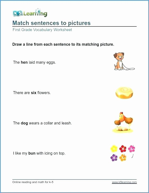 Vocabulary Worksheets for 1st Graders Free Printable Vocabulary Worksheets
