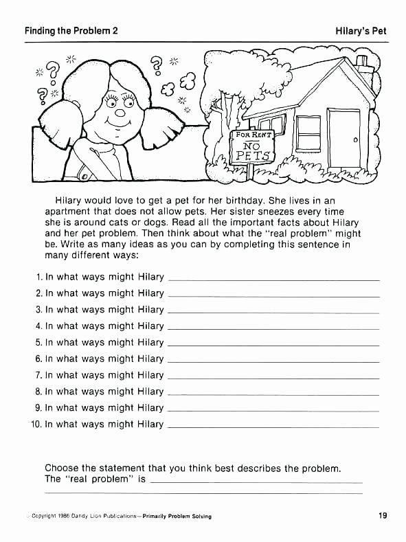 Vocational Skills Worksheets Fresh Math Problem solving Skills Worksheets