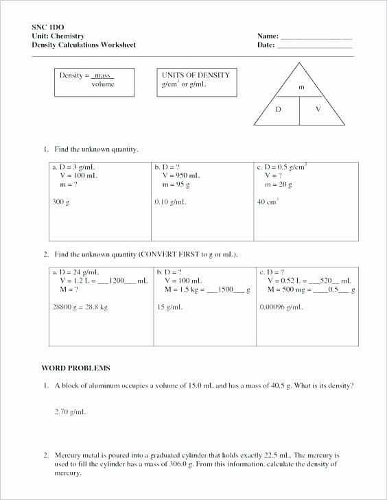 Volcano Worksheet for Kids Density for Kids Worksheets