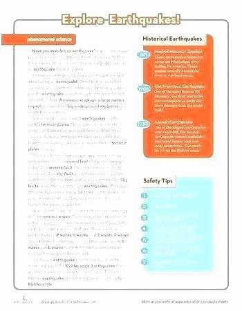 Volcano Worksheet for Kids Geology for Kids Volcano Worksheet Main Ideas Worksheets Grade 5