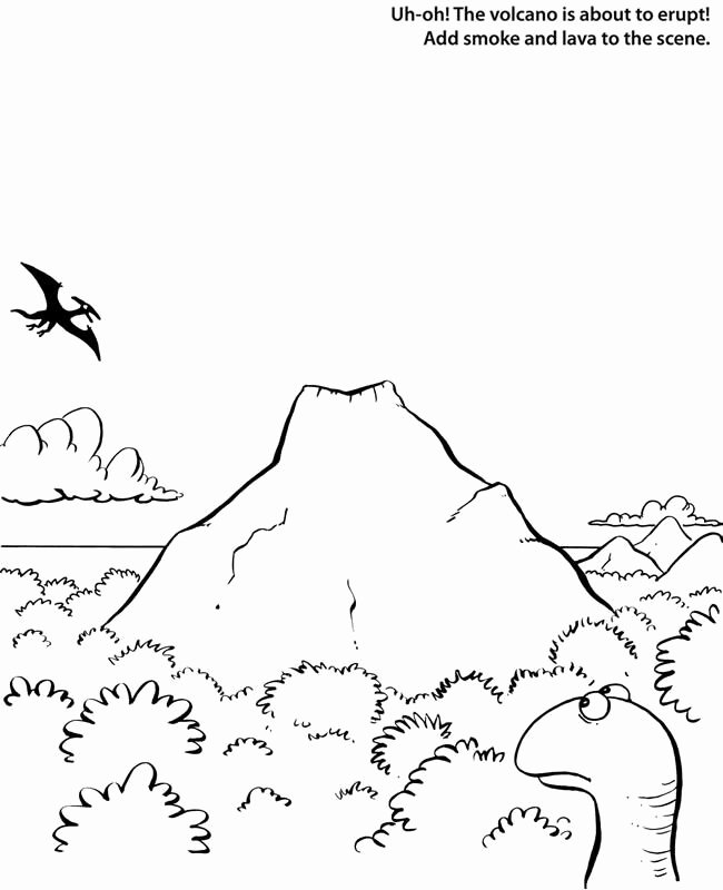 Volcano Worksheet for Kids Worksheet Dinosaur Uh Oh the Volcano is About to Erupt