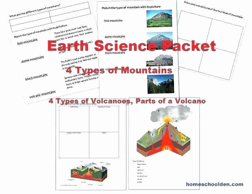Volcano Worksheets High School Best Of Earth Science Worksheets Grade Earth Science Worksheets Free