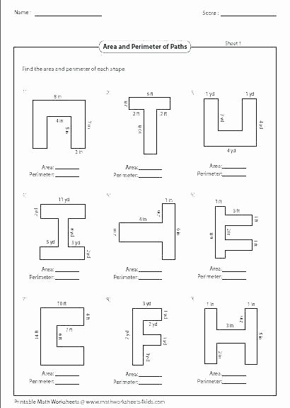 Volume Of Irregular Shapes Worksheet Awesome area Perimeter Worksheets and Lesson Plan Sample with