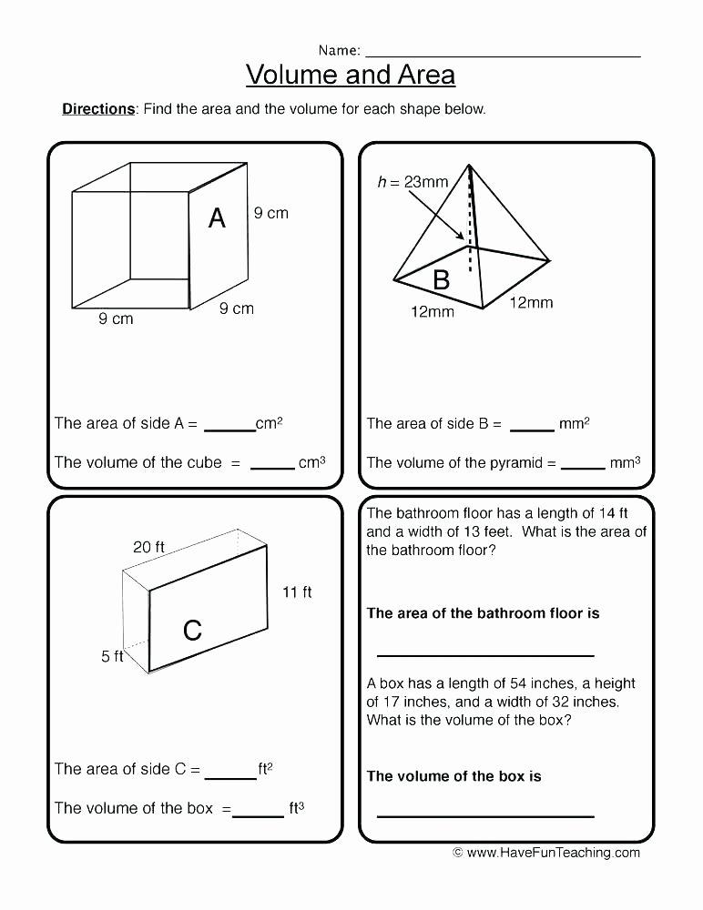 Volume Of Irregular Shapes Worksheet Awesome area Worksheets area Worksheets Pdf area Triangles