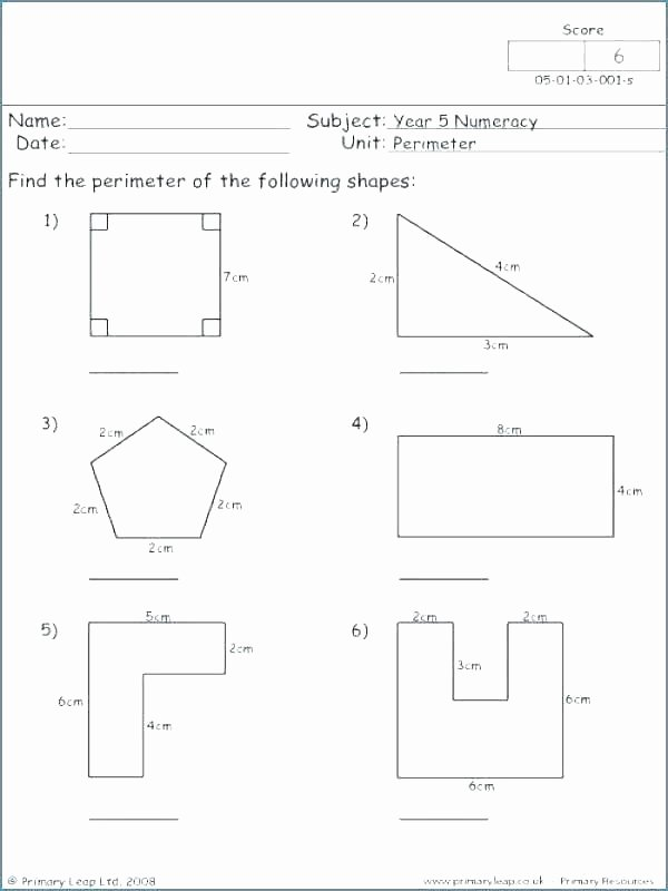 Volume Of Irregular Shapes Worksheet Fresh area Perimeter Worksheets and Lesson Plan Sample with