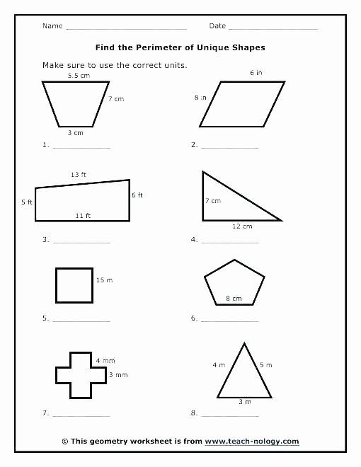 Volume Of Irregular Shapes Worksheet Inspirational Finding Perimeter Worksheets Grade Math Irregular Shapes