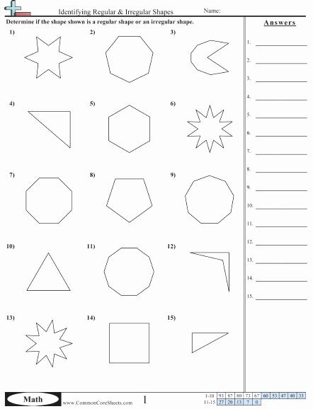 Volume Of Irregular Shapes Worksheet Unique Shapes Worksheets