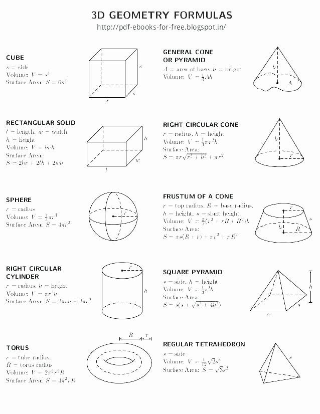 Volume Of Irregular solids Worksheet Surface area Worksheets Grade 7