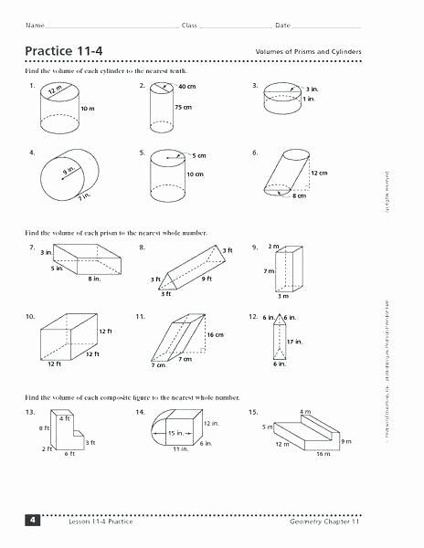 Volume Worksheet 4th Grade area Perimeter Volume Worksheets Grade and Ks2