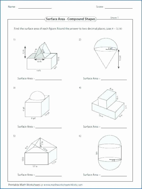 Volume Worksheet 4th Grade area Worksheets 7th Grade