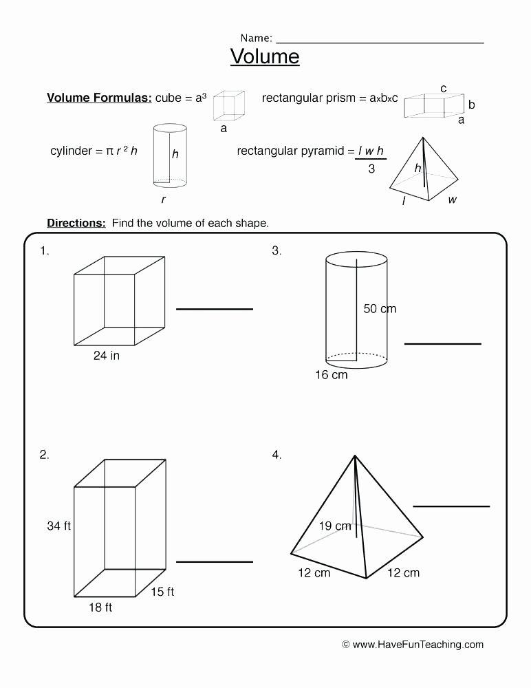 Volume Worksheet 4th Grade Volume Shapes Worksheet Volume Worksheets Volume Problems
