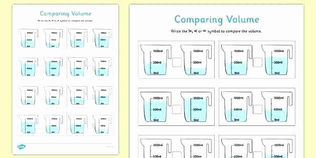 Volume Worksheets 3rd Grade Grade Measuring Worksheets Second Measurement First Pdf Third