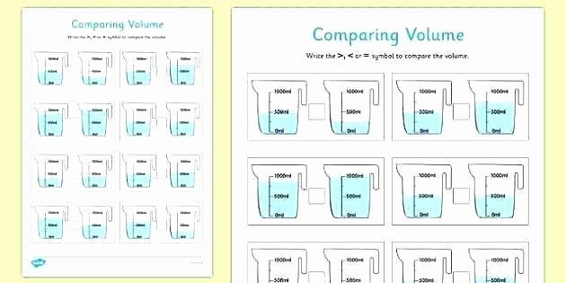Volume Worksheets 3rd Grade Grade Measuring Worksheets Second Measurement First Pdf Third