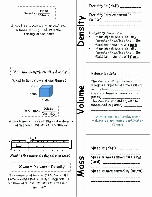 Volume Worksheets 3rd Grade Liquid Volume Worksheets Grade Mass and for Science Matter