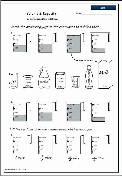 Volume Worksheets 3rd Grade Mass Worksheets 3rd Grade Measurement Inches Multiplication