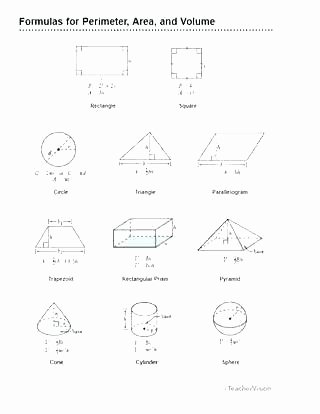 Volume Worksheets 3rd Grade Perimeter area and Volume Worksheets Additive Volume