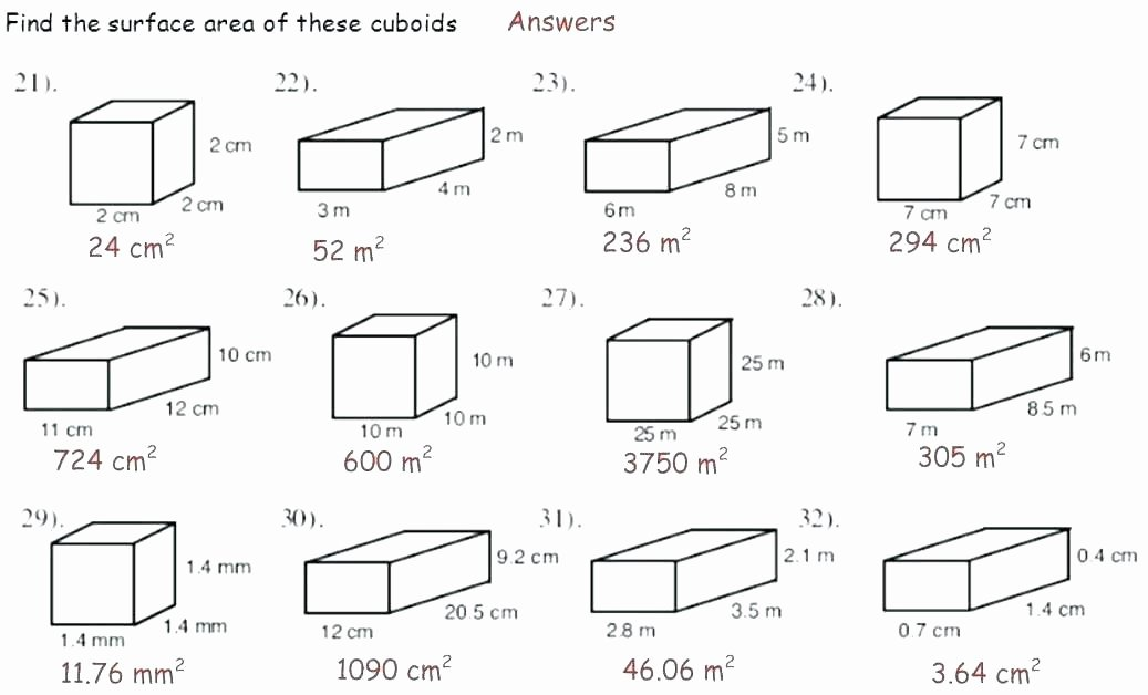 Volume Worksheets 3rd Grade Surface area Of A Rectangular Prism Worksheet – Ozerasansor