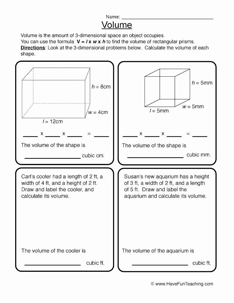Volume Worksheets 3rd Grade Volume Worksheets Grade Geometry Counting Worksheet Math