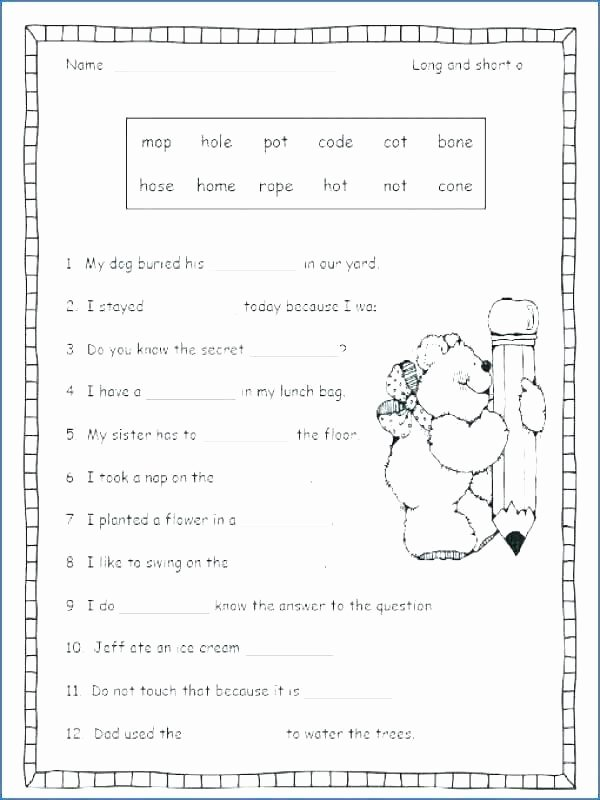 silent e worksheets 3rd grade phonics first vowel fresh ea for long o consonant letter prepossessing worksheet