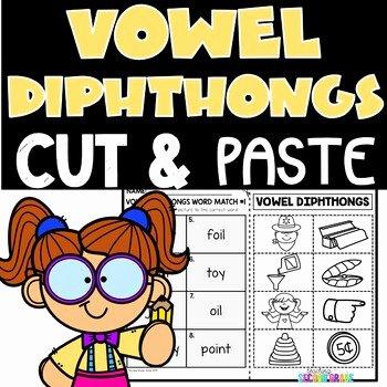 Vowel Diphthongs Worksheet Diphthong Worksheets