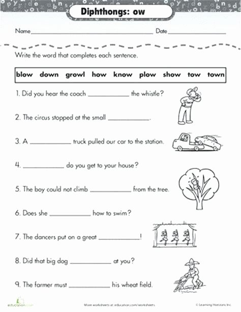 Vowel Diphthongs Worksheet Worksheets Vowel Diphthongs Post Date 2nd Grade Pin by