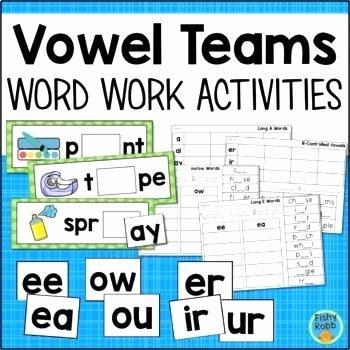 Vowel Team Ea Worksheets Ee Worksheets First Grade