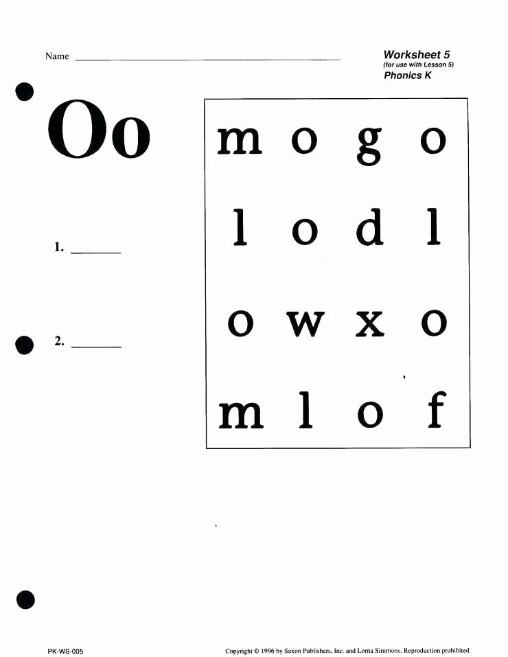 Vowel Worksheets for Kindergarten Phonics Program 2 Teacher Manual Publishers Saxon Phonics