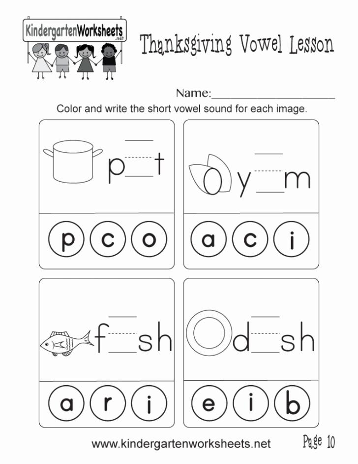 Vowel Worksheets for Kindergarten Phonics Worksheets Kindergarten Redwoodsmedia