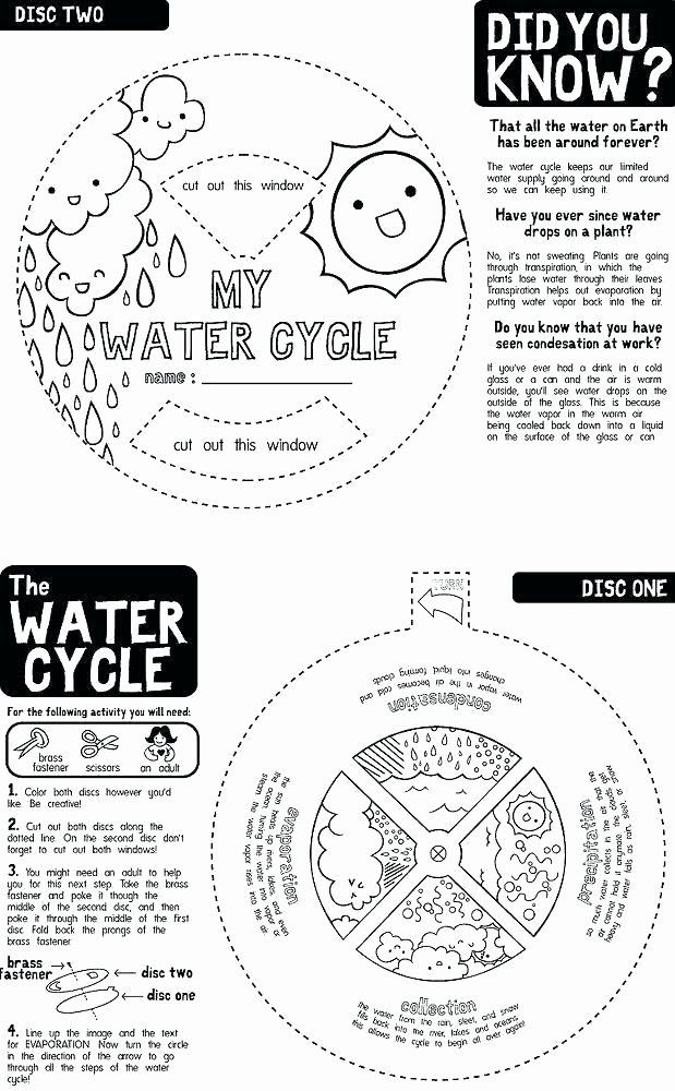Water Cycle Worksheet Kindergarten Science Water Cycle Worksheets