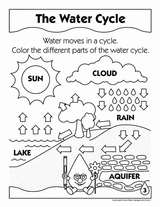 Water Cycle Worksheet Kindergarten Worksheets Kindergarten Parts Book A Worksheet Pdf