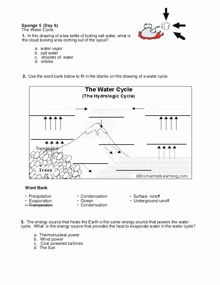 Water Cycle Worksheets 2nd Grade Uses Water Worksheets for Kindergarten Kindergarten Water