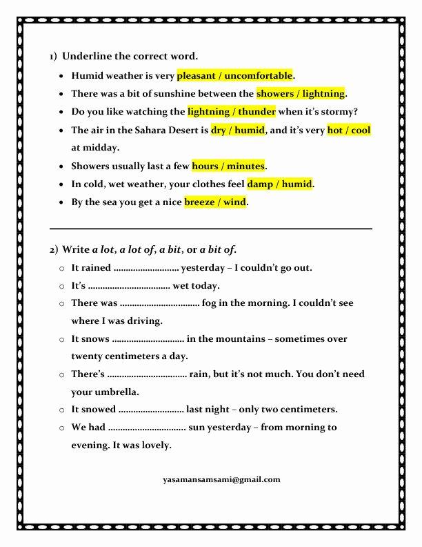 Weather tools Worksheet Weather Activities for Kindergarten Elegant Free Worksheets